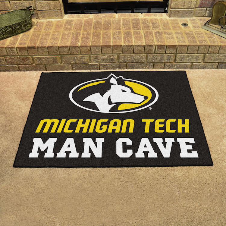 Michigan Tech Huskies ALL STAR 34 x 45 MAN CAVE Floor Mat