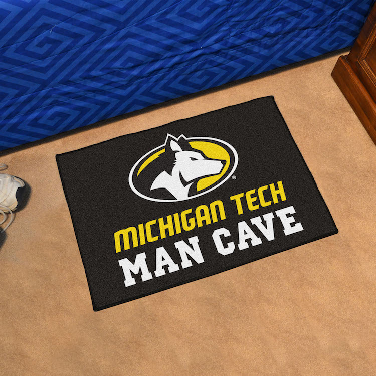 Michigan Tech Huskies MAN CAVE 20 x 30 STARTER Floor Mat