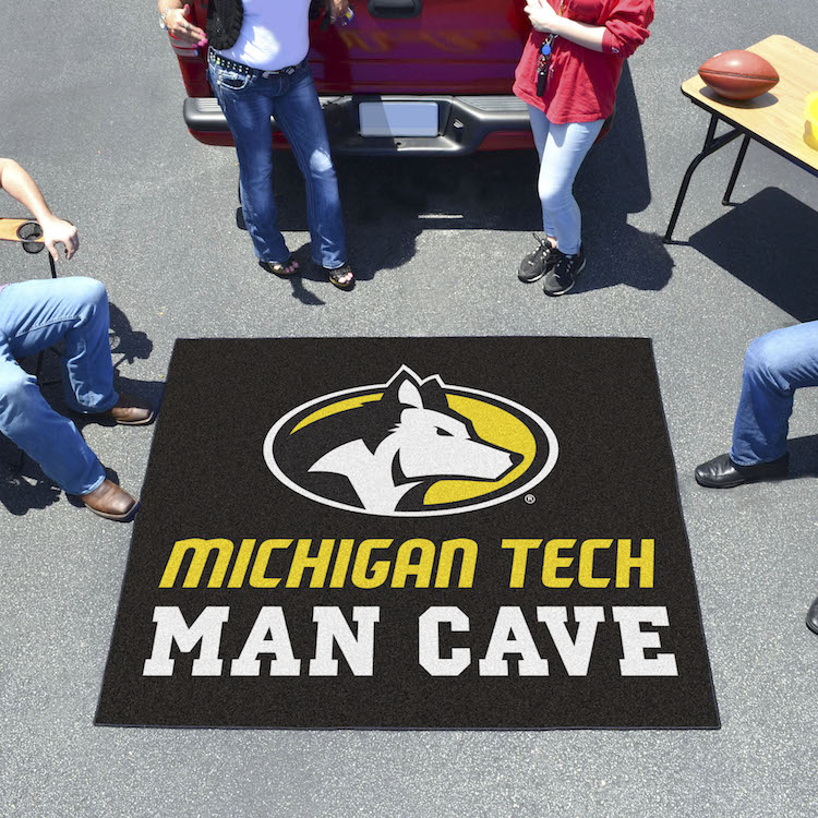 Michigan Tech Huskies MAN CAVE TAILGATER 60 x 72 Rug