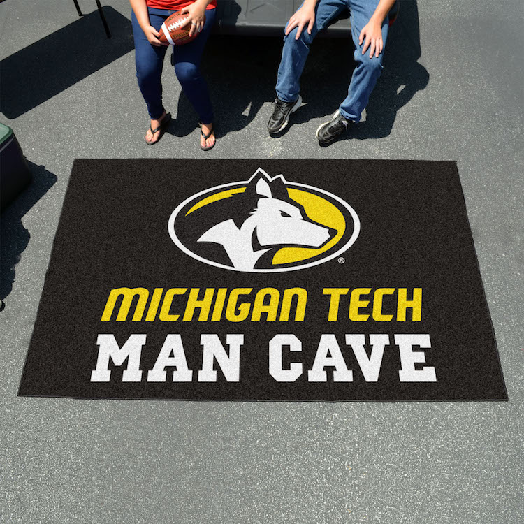 Michigan Tech Huskies UTILI-MAT 60 x 96 MAN CAVE Rug