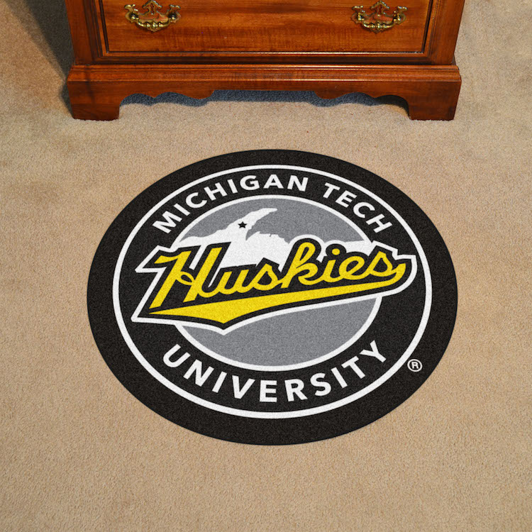 Michigan Tech Huskies Roundel Mat