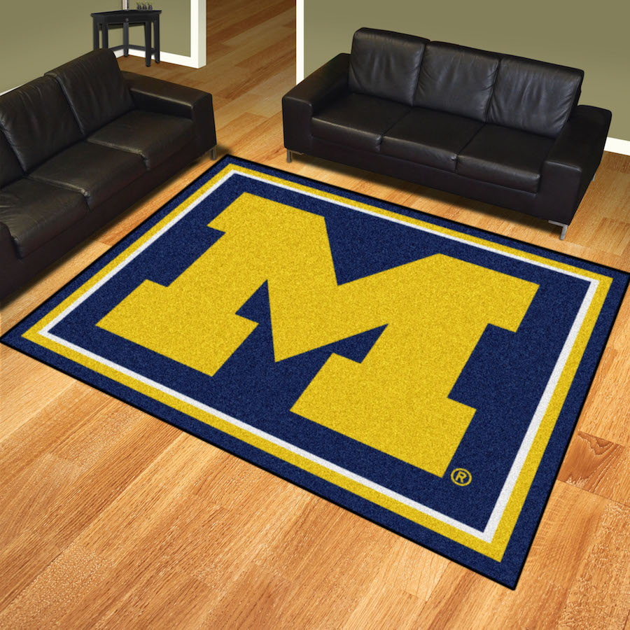 Michigan Wolverines Ultra Plush 8x10 Area Rug