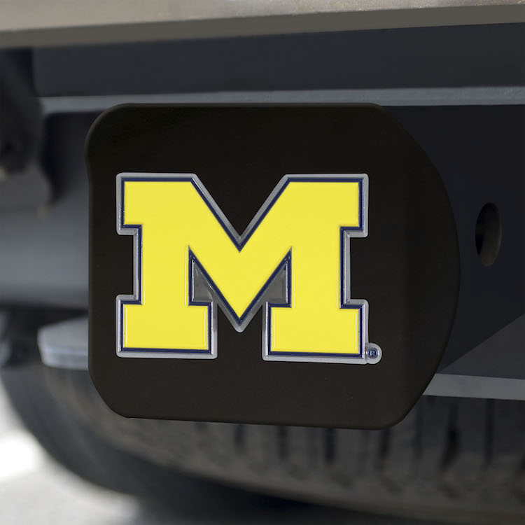 Michigan Wolverines Black and Color Trailer Hitch Cover