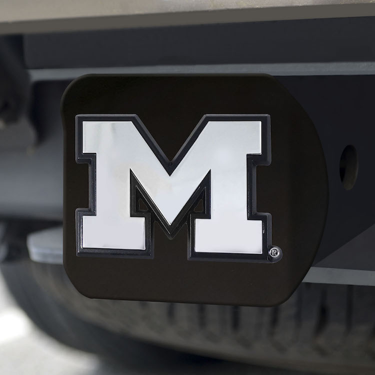 Michigan Wolverines BLACK Trailer Hitch Cover