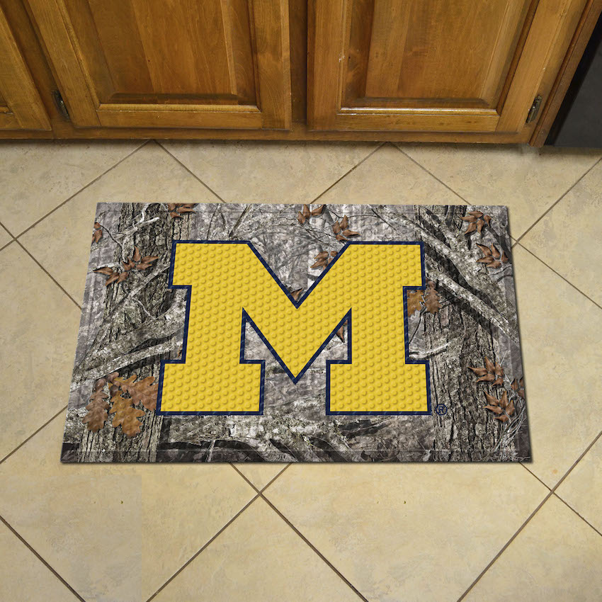 Michigan Wolverines Camo Style SCRAPER Door Mat