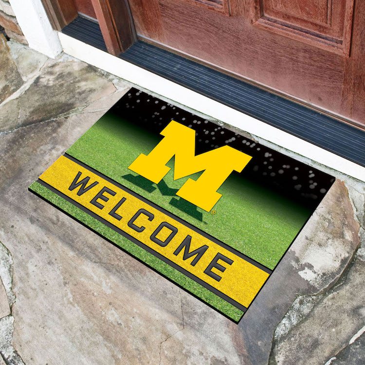 Michigan Wolverines Recycled Crumb Rubber Door Mat