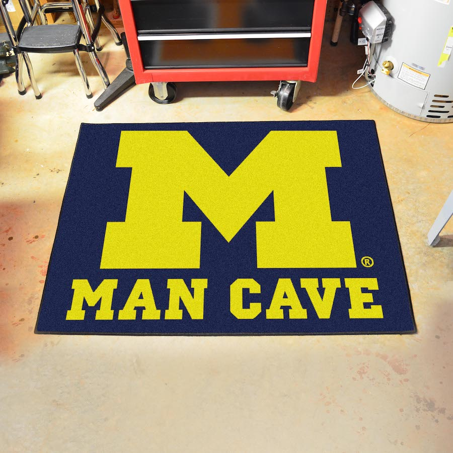 Michigan Wolverines ALL STAR 34 x 45 MAN CAVE Floor Mat