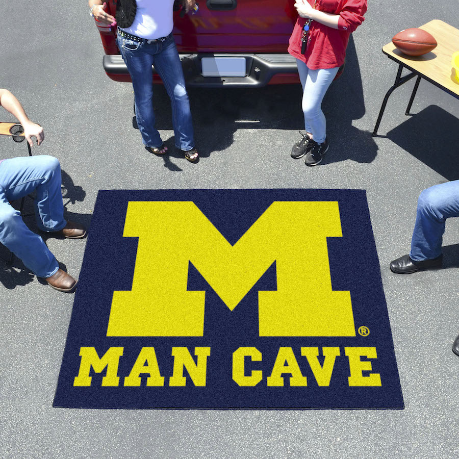 Michigan Wolverines MAN CAVE TAILGATER 60 x 72 Rug