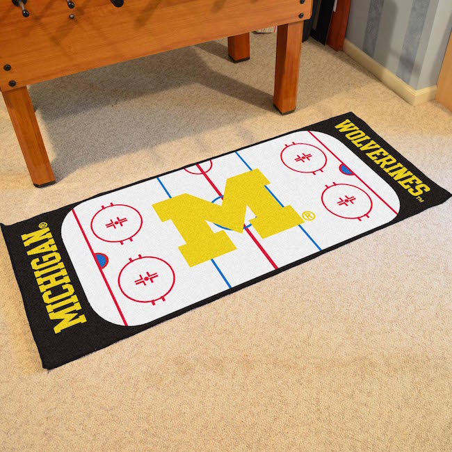 Michigan Wolverines 30 x 72 Hockey Rink Carpet Runner