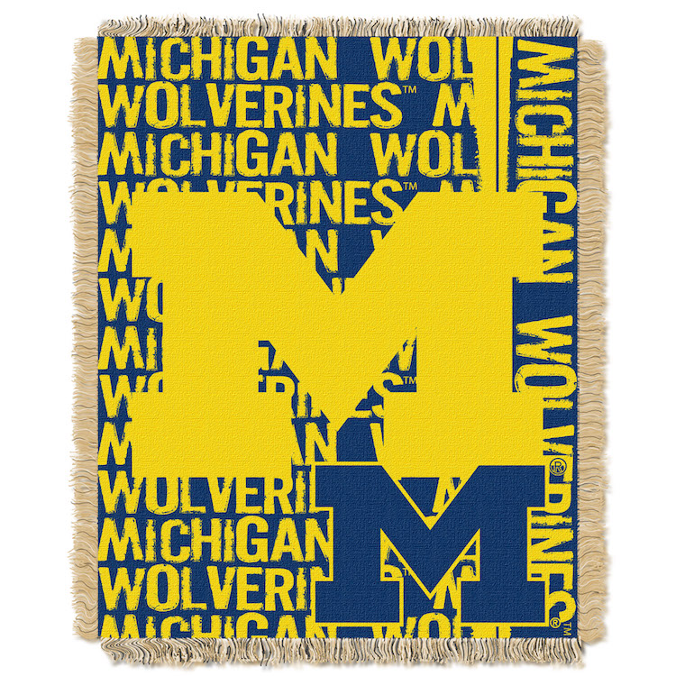 Michigan Wolverines Double Play Tapestry Blanket 48 x 60