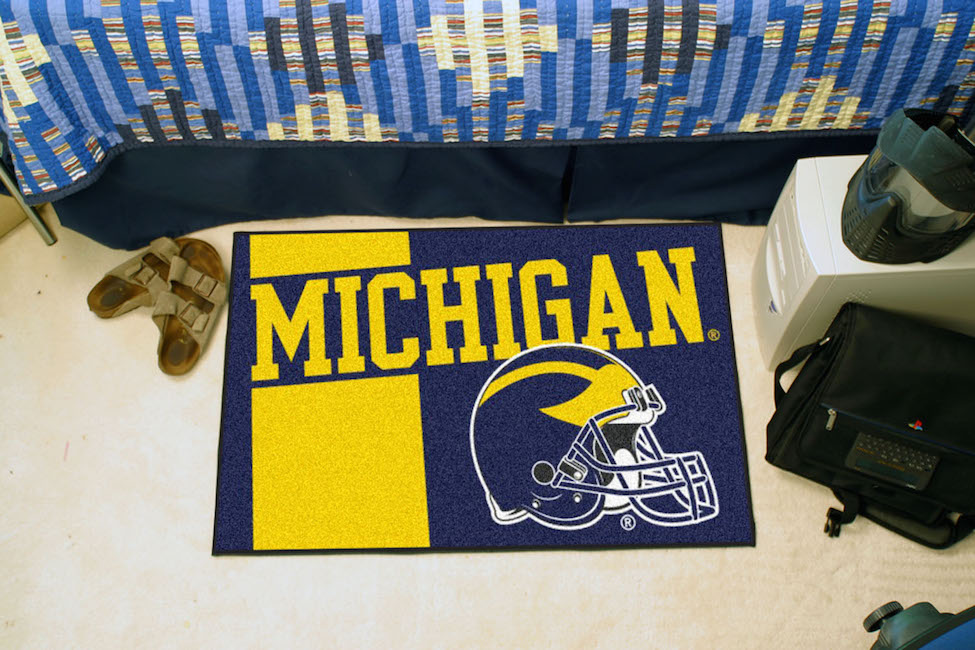 Michigan Wolverines 20 x 30 Uniform STARTER Floor Mat