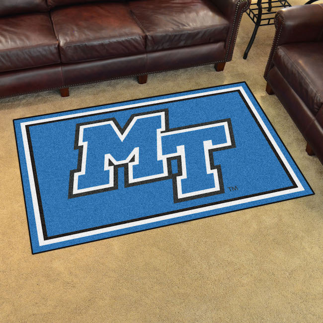 Middle Tennessee State Blue Raiders 4x6 Area Rug