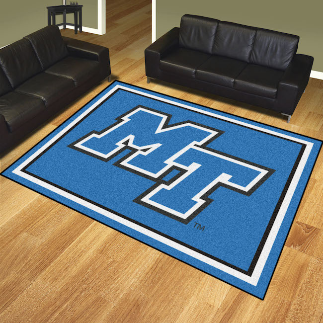 Middle Tennessee State Blue Raiders Ultra Plush 8x10 Area Rug