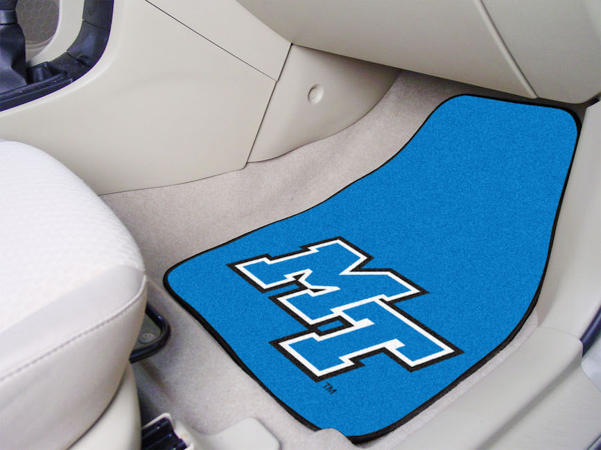 Middle Tennessee State Blue Raiders Car Floor Mats 18 x 27 Carpeted-Pair