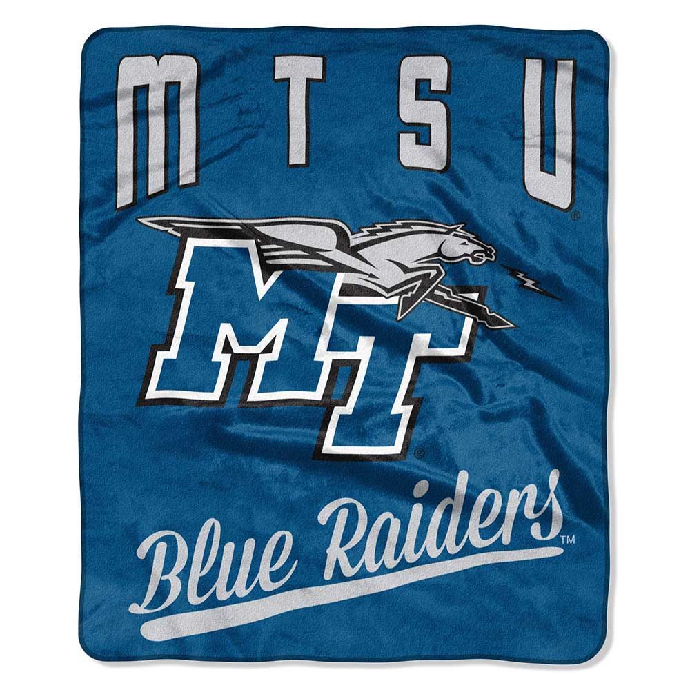 Middle Tennessee State Blue Raiders Plush Fleece Raschel Blanket 50 x 60