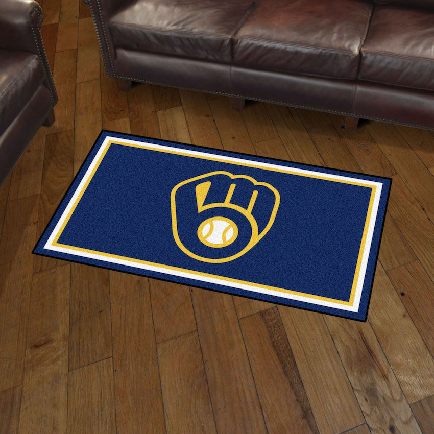 Milwaukee Brewers 3x5 Area Rug