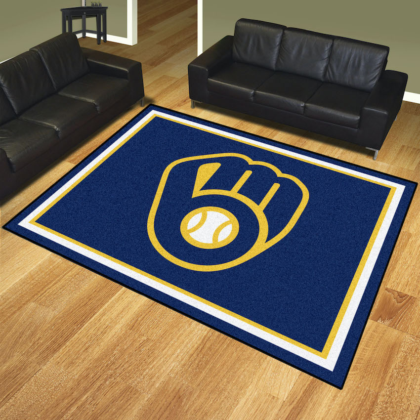 Milwaukee Brewers Ultra Plush 8x10 Area Rug
