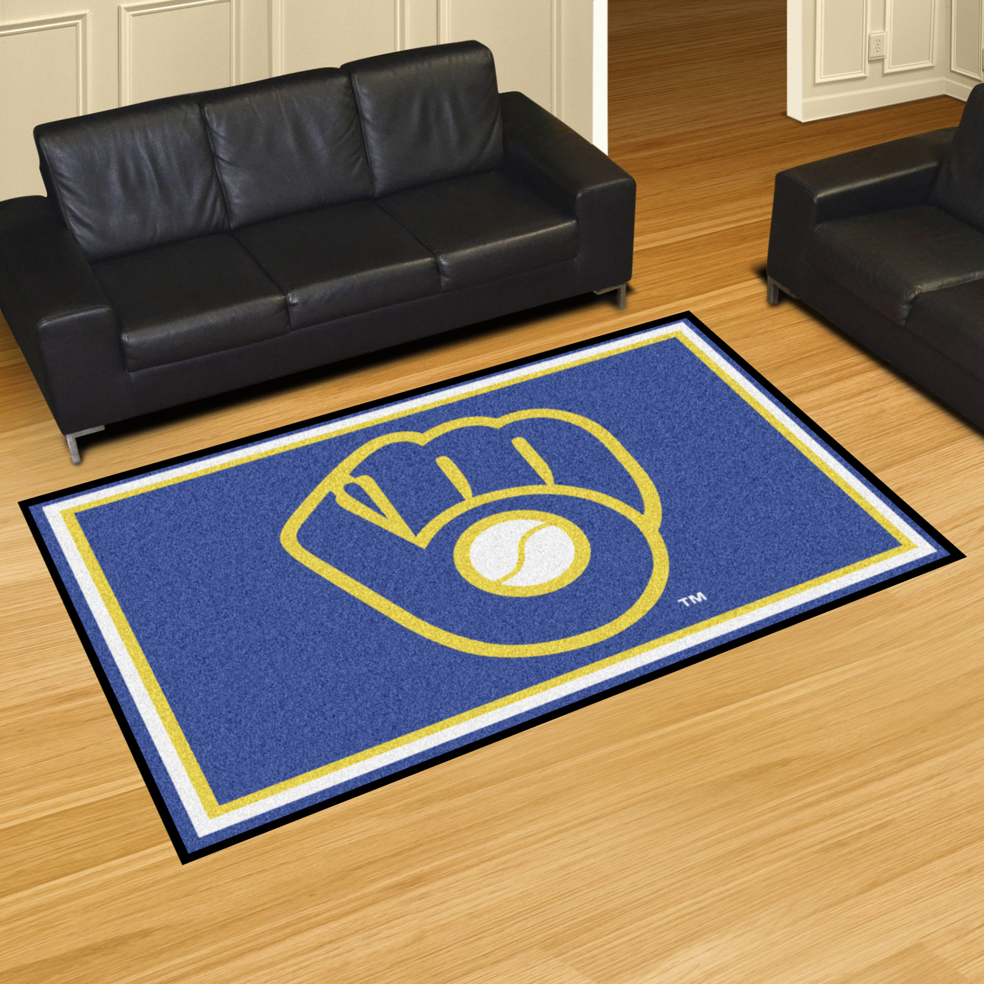 Milwaukee Brewers MB LOGO MB LOGO 5x8 Area Rug