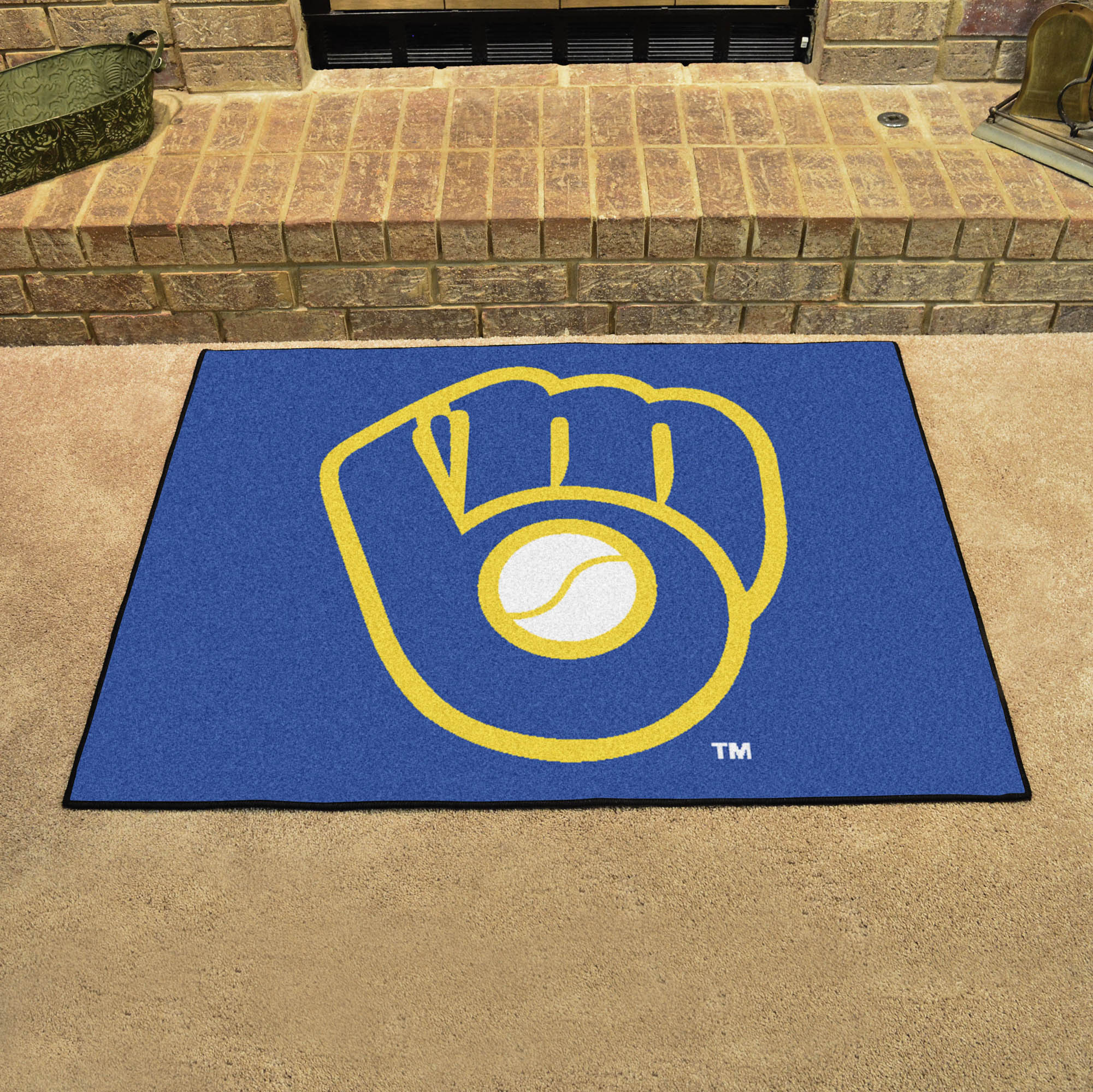 Milwaukee Brewers MB LOGO MB LOGO ALL STAR 34 x 45 Floor Mat