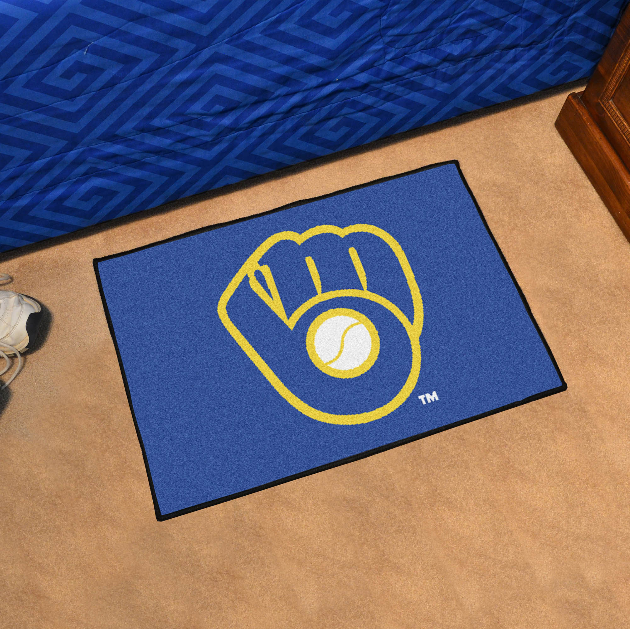 Milwaukee Brewers MB LOGO MB LOGO 20 x 30 STARTER Floor Mat