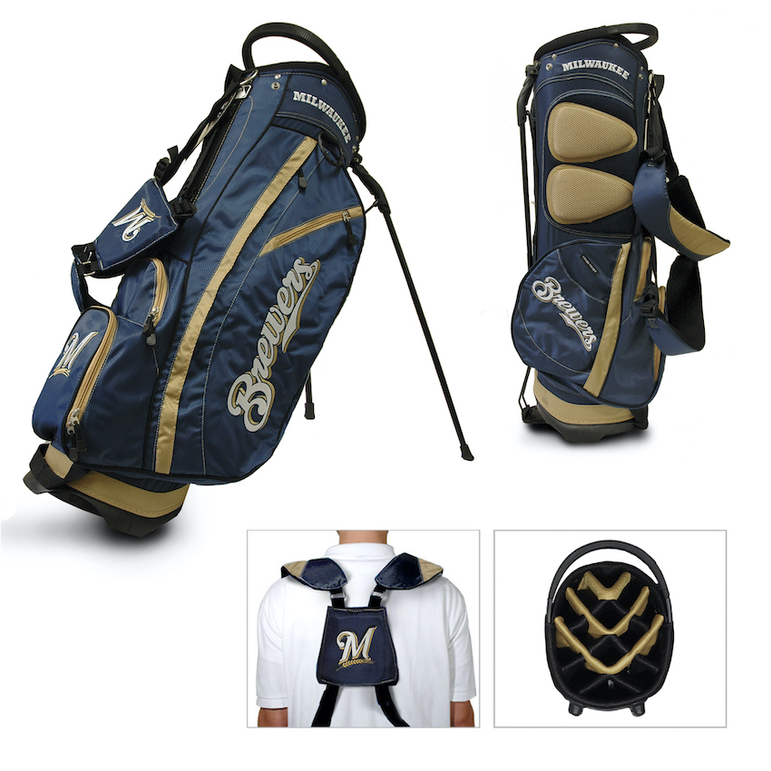 Milwaukee Brewers Fairway Carry Stand Golf Bag