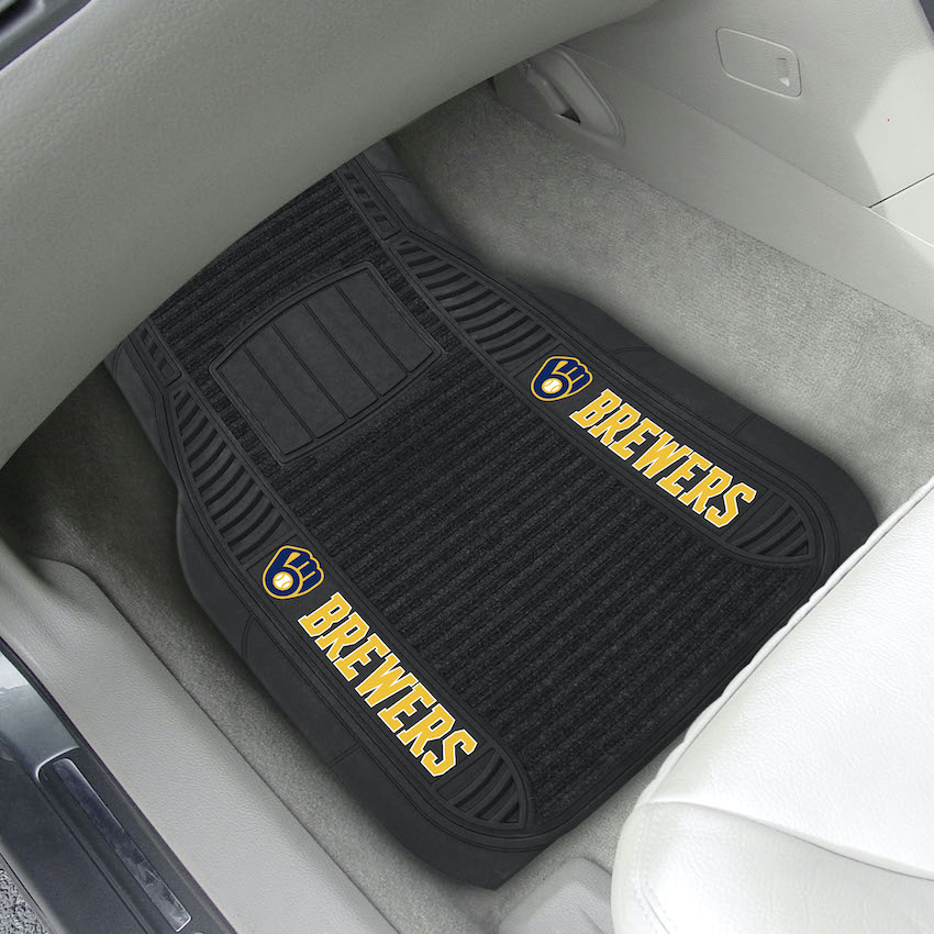 Milwaukee Brewers Deluxe 20 x 27 Car Floor Mats