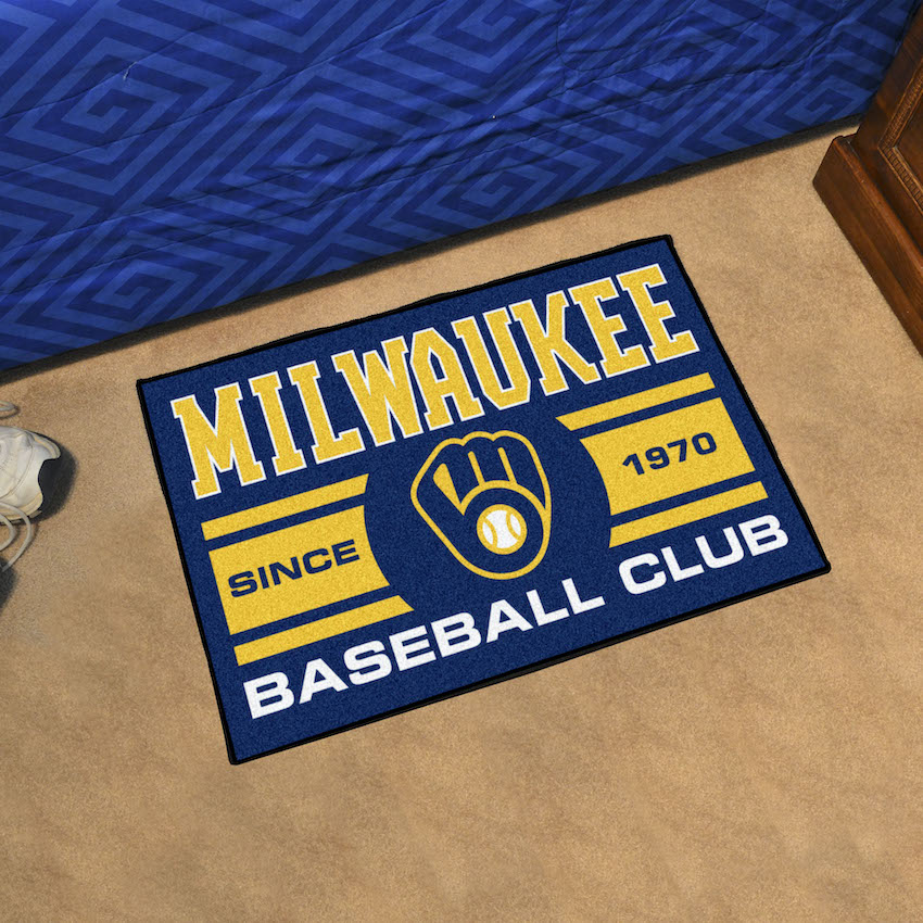 Milwaukee Brewers 20 x 30 Uniform STARTER Floor Mat