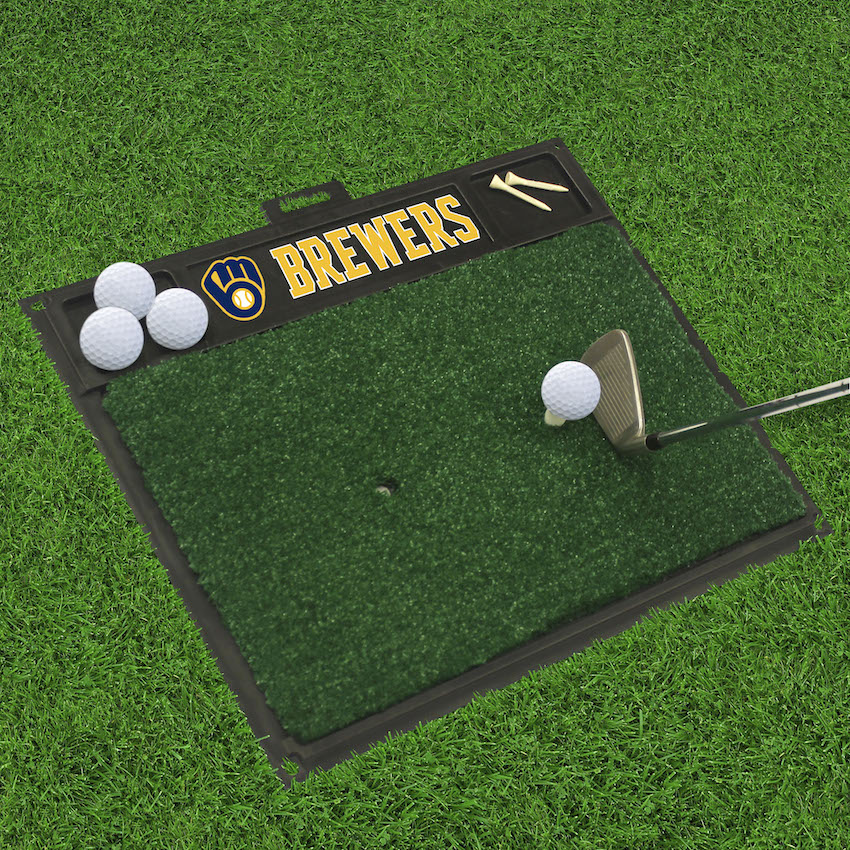 Milwaukee Brewers Golf Hitting Mat
