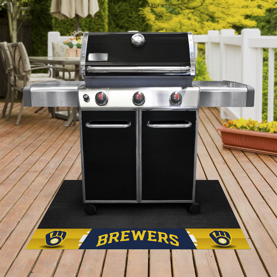 Milwaukee Brewers MLB Grill Mat