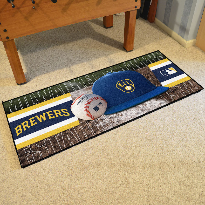 Milwaukee Brewers 30 x 72 Baseball Carpet Runner