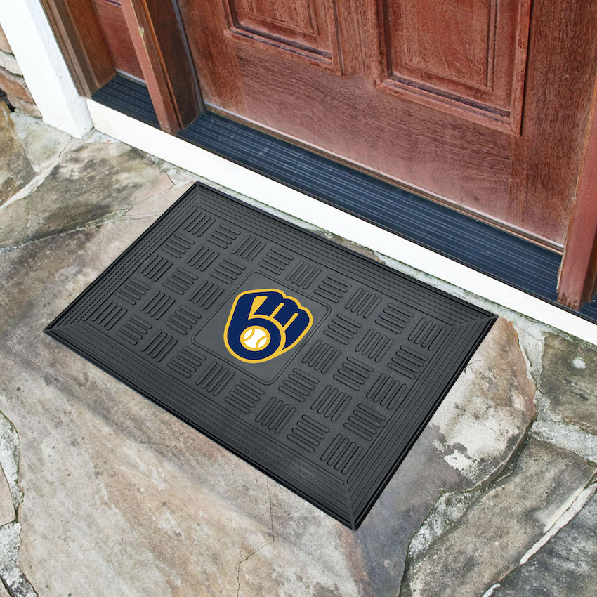 Milwaukee Brewers MEDALLION Vinyl Door Mat