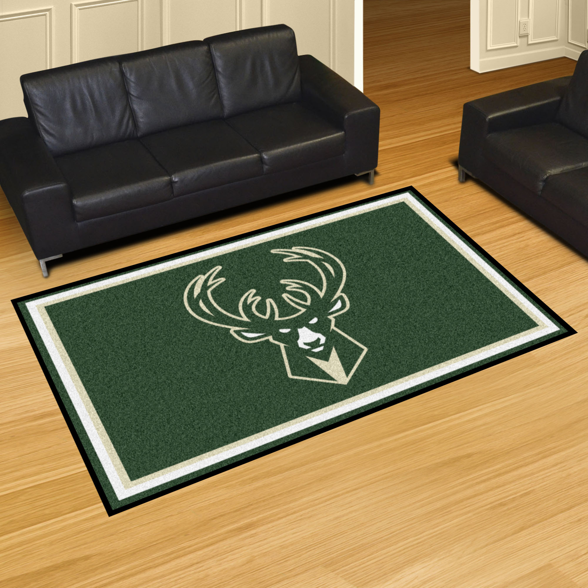 Milwaukee Bucks 5x8 Area Rug