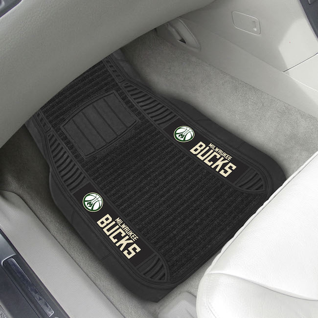Milwaukee Bucks Deluxe 20 x 27 Car Floor Mats