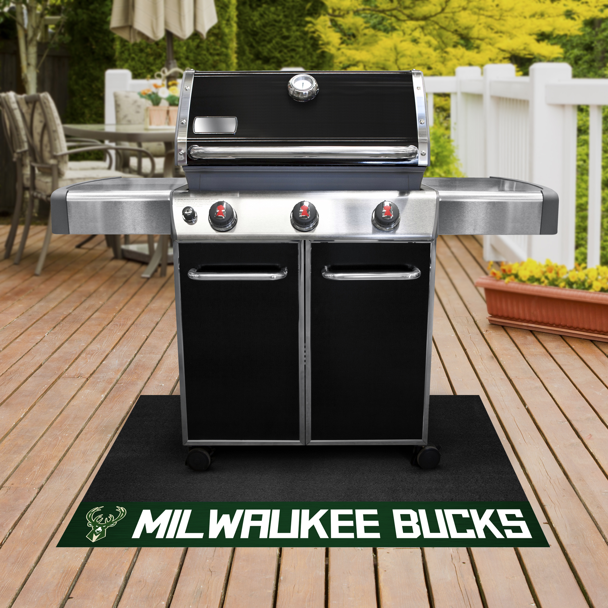 Milwaukee Bucks NBA Grill Mat