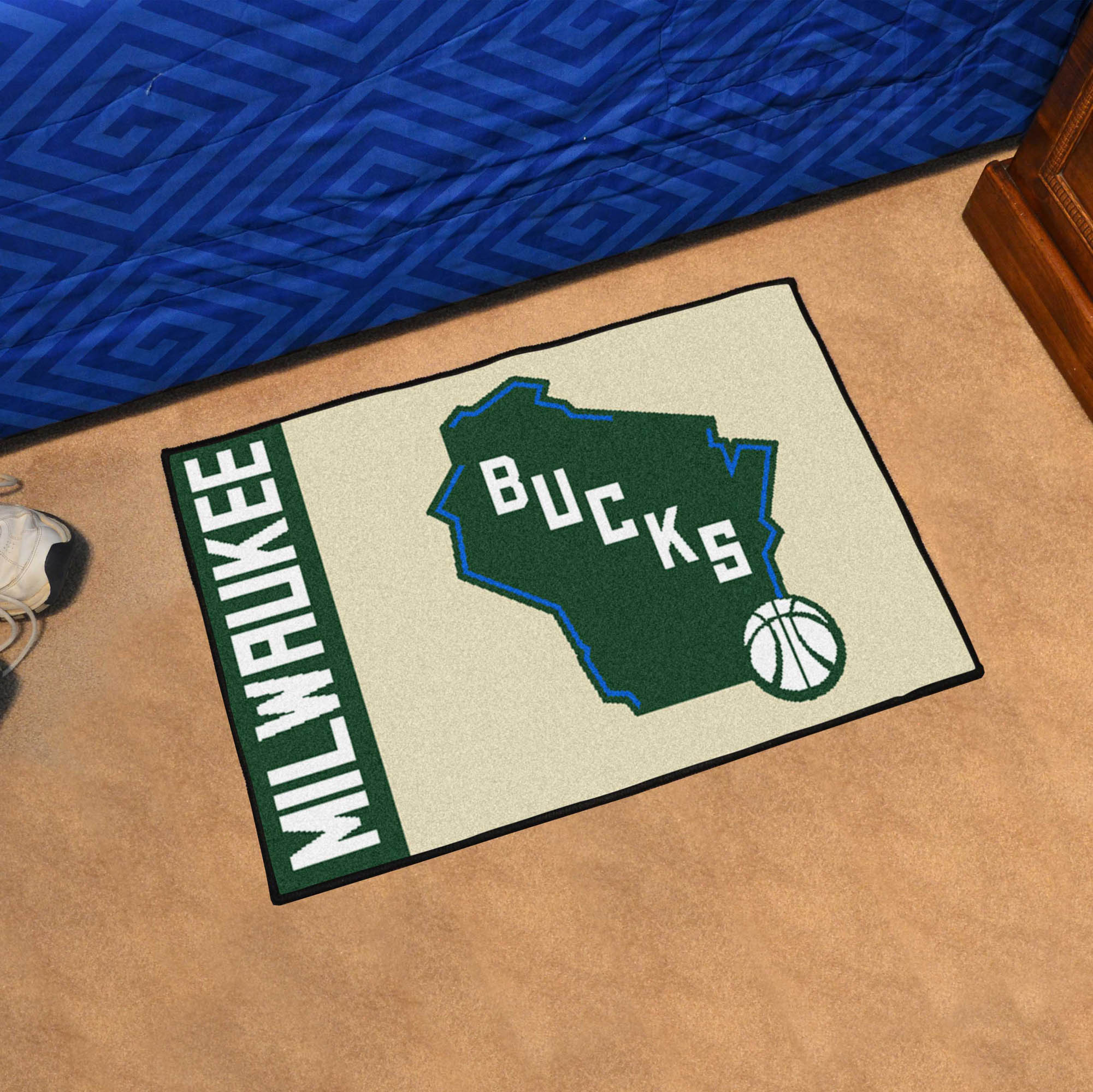 Milwaukee Bucks 20 x 30 Uniform Inspired Starter Rug