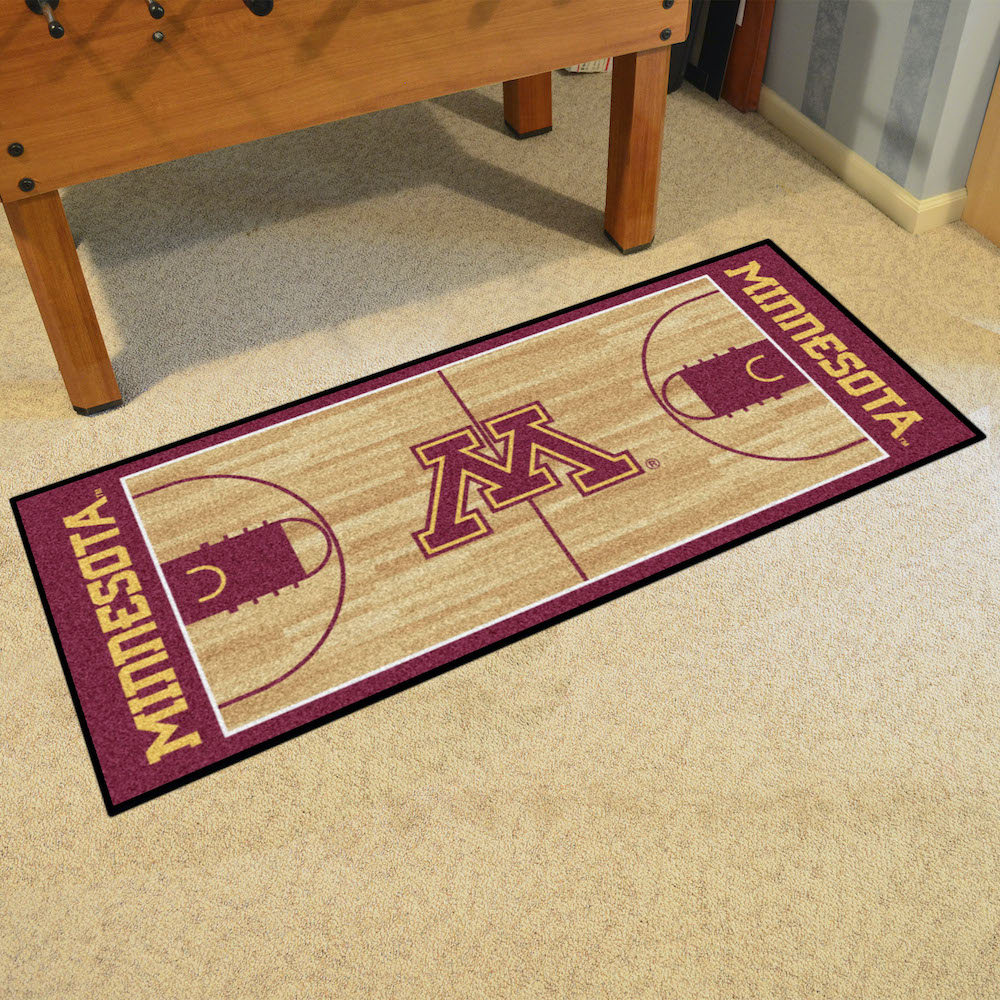 Minnesota Golden Gophers 30 x 72 Basketball Court Carpet Runner
