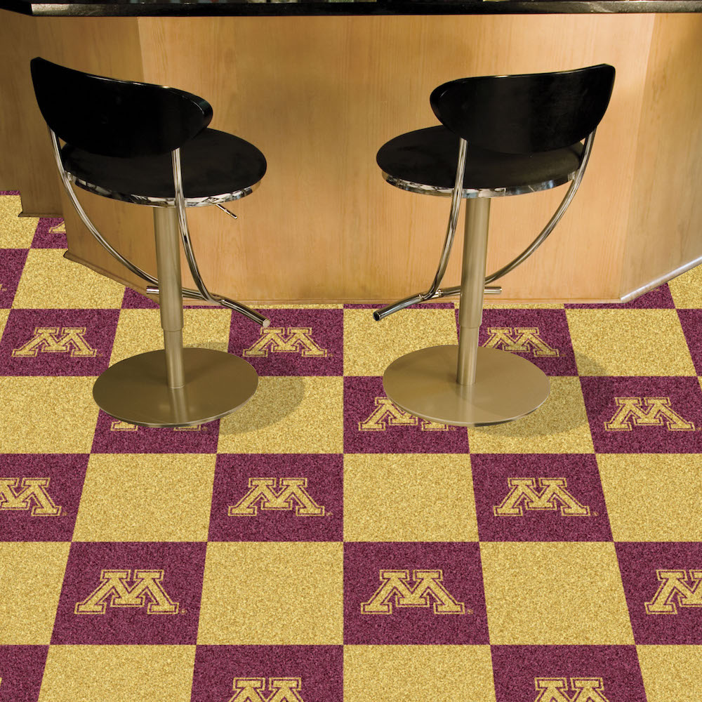 Minnesota Golden Gophers Carpet Tiles 18x18 in.