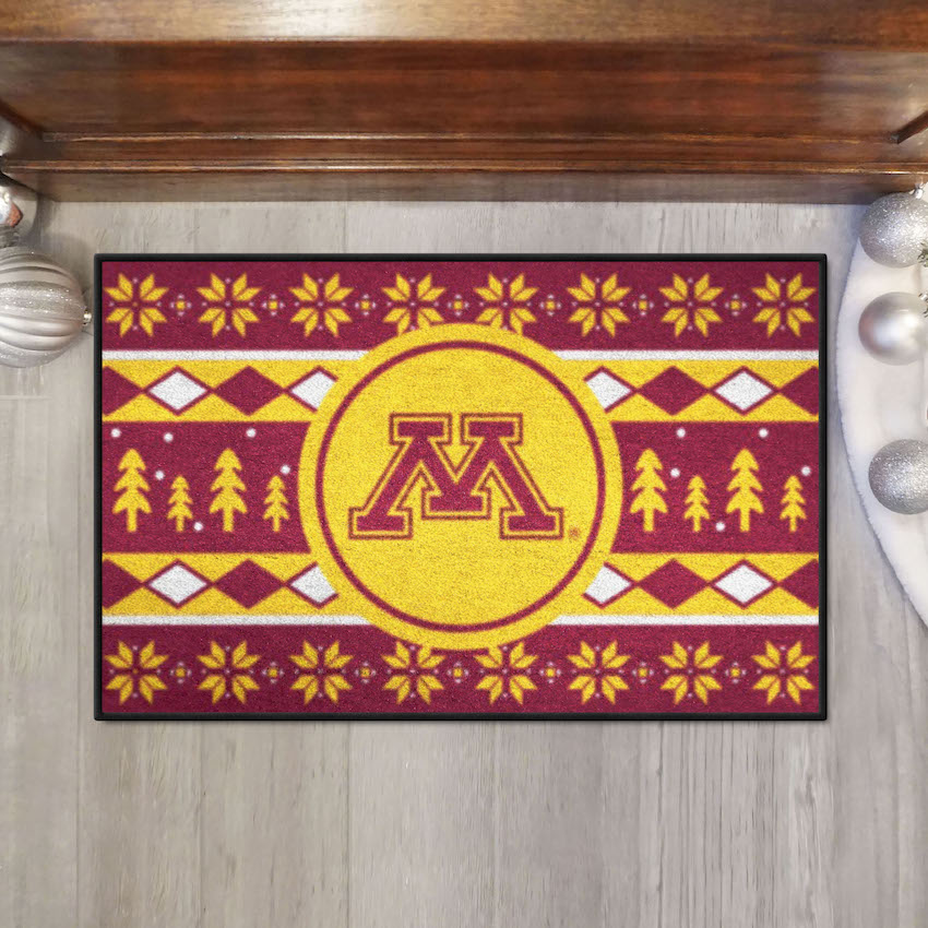 Minnesota Golden Gophers HOLIDAY SWEATER 20 x 30 STARTER Floor Mat