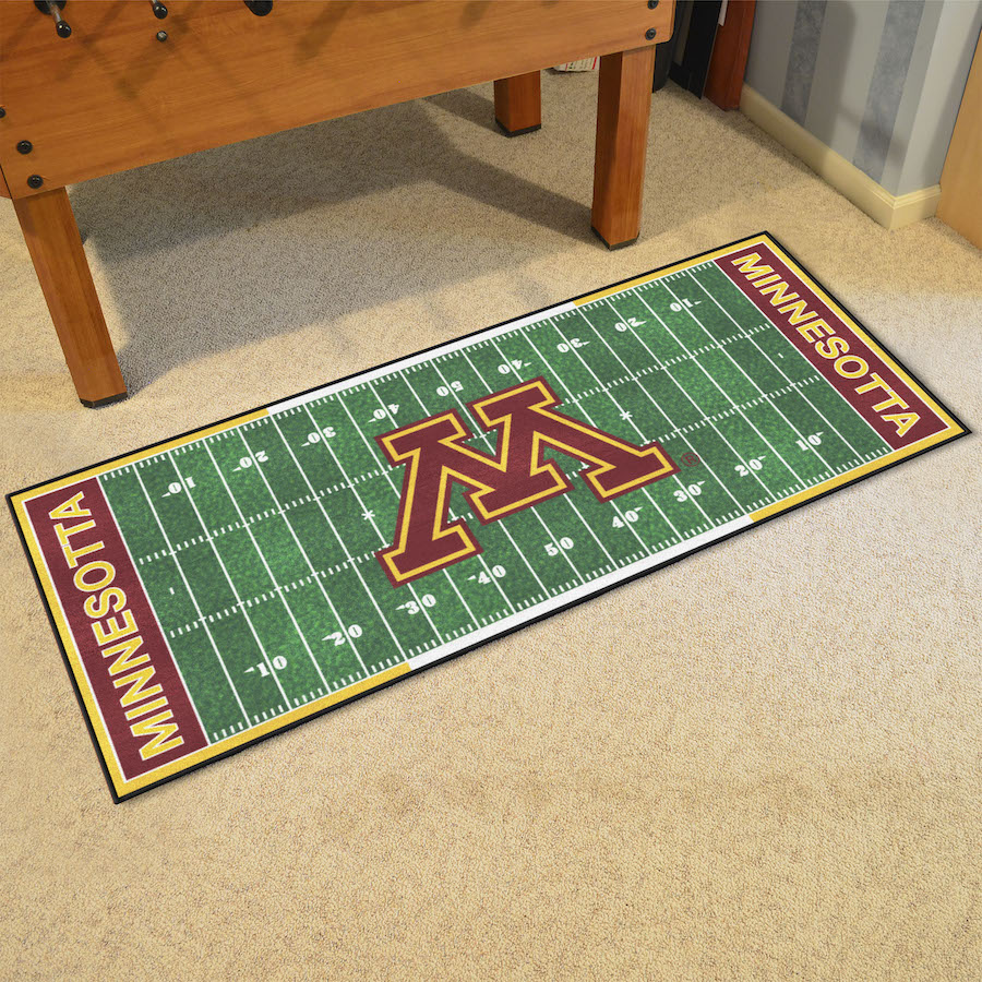 Minnesota Golden Gophers 30 x 72 Football Field Carpet Runner
