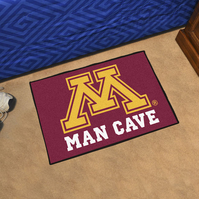 Minnesota Golden Gophers MAN CAVE 20 x 30 STARTER Floor Mat