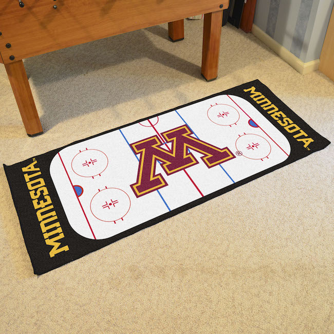 Minnesota Golden Gophers 30 x 72 Hockey Rink Carpet Runner