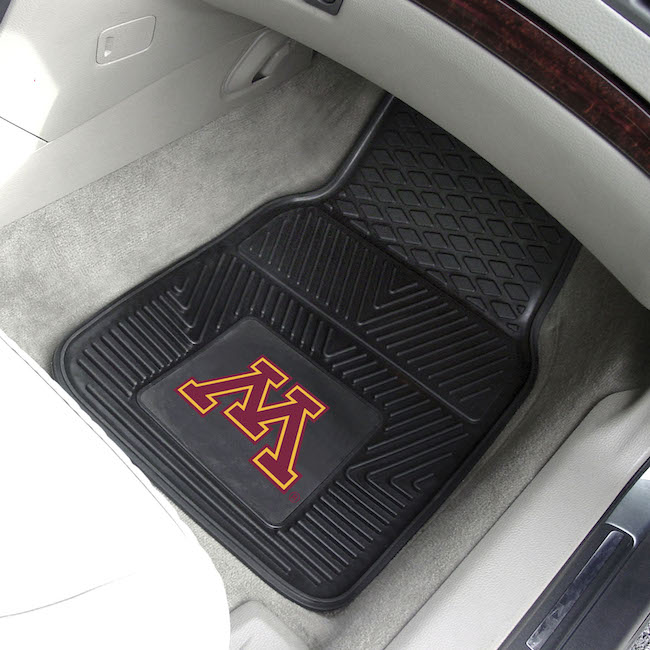 Minnesota Golden Gophers Car Floor Mats 18 x 27 Heavy Duty Vinyl Pair