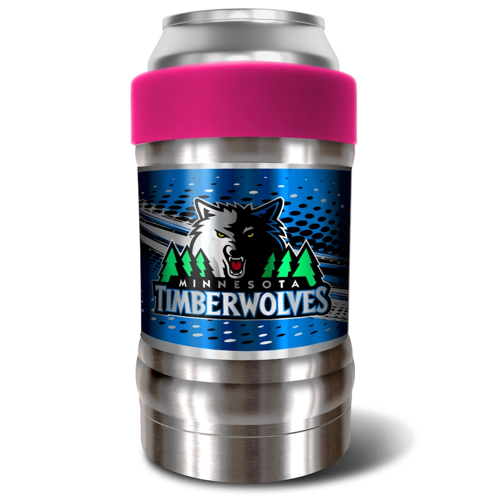 Minnesota Timberwolves LOCKER NBA Insulated Can and Bottle Holder - Pink