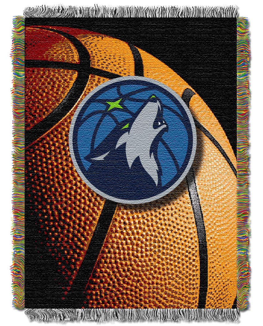 Minnesota Timberwolves Real Photo Basketball Tapestry