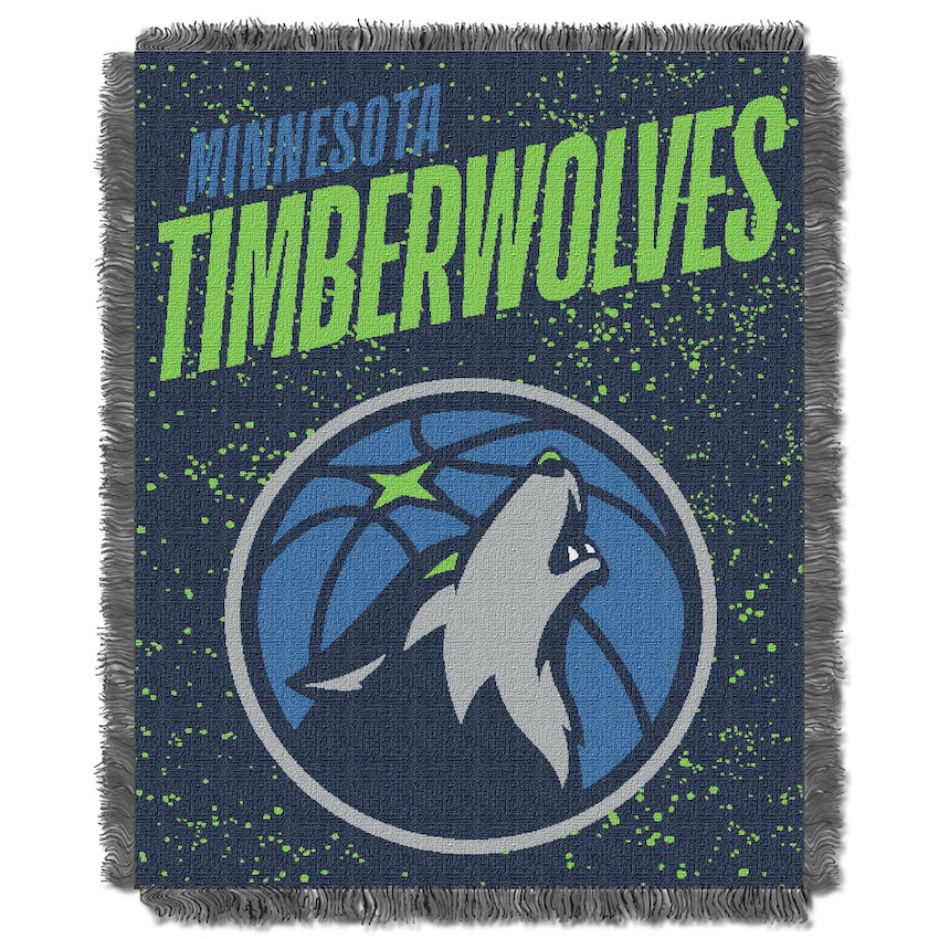 Minnesota Timberwolves Double Play Tapestry Blanket 48 x 60