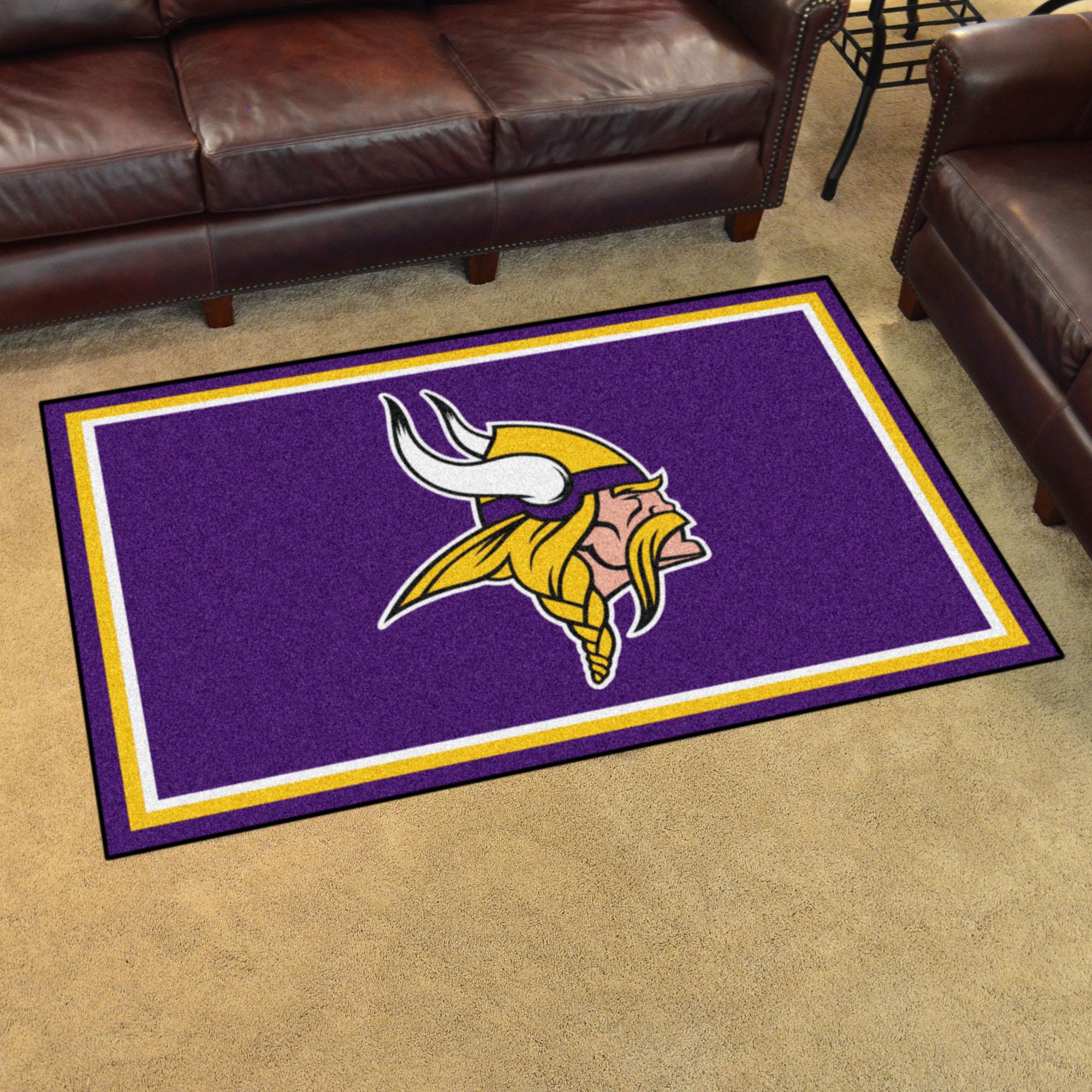 Minnesota vikings 4x6 area rug