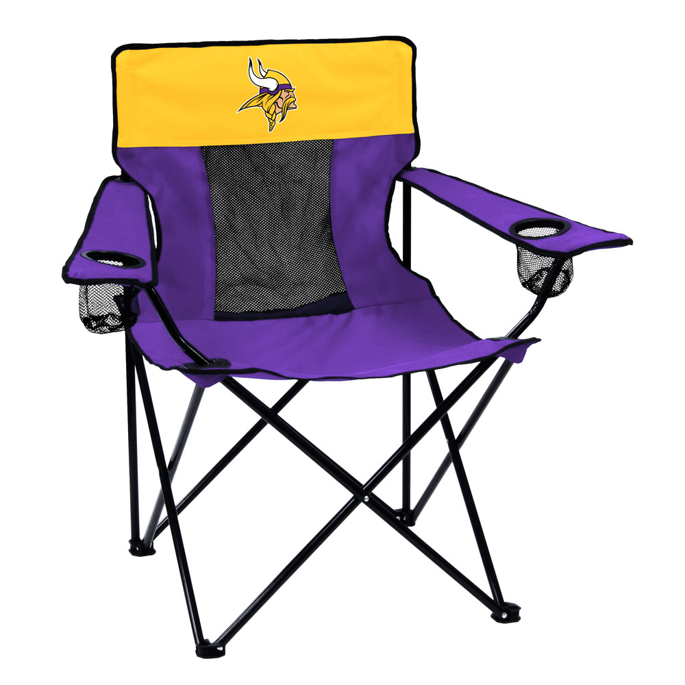 Minnesota Vikings ELITE logo folding camp style chair