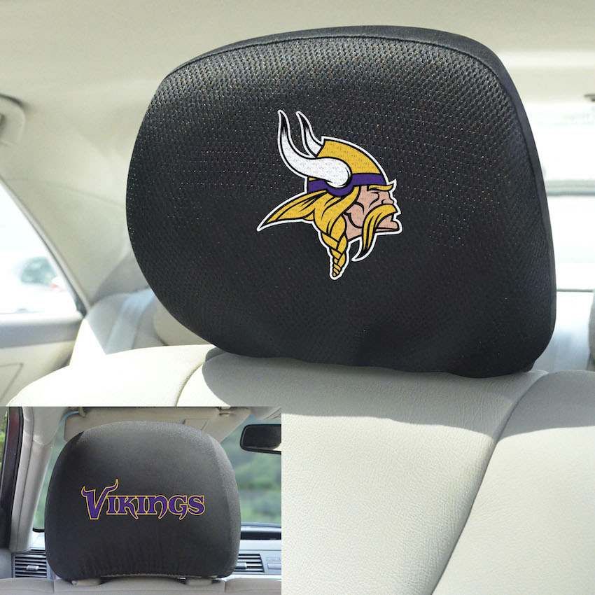 Minnesota Vikings Head Rest Covers