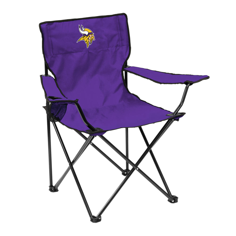 Minnesota Vikings QUAD style logo folding camp chair