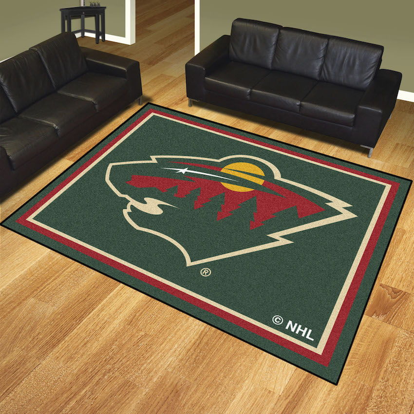 Minnesota Wild Ultra Plush 8x10 Area Rug